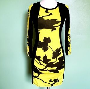 Adorable Yellow Black Dress NWT!!